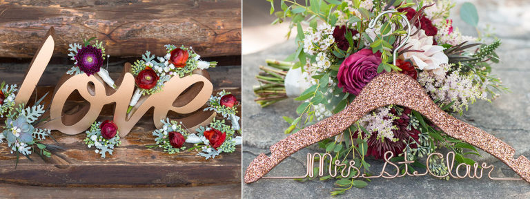 Wedding Floral Arrangements at Spruce Mountain Ranch