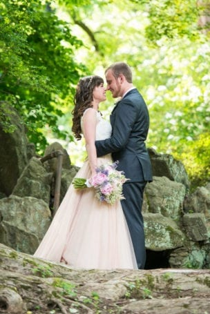 First Look at the University of Pennsylvania Morris Arboretum Wedding
