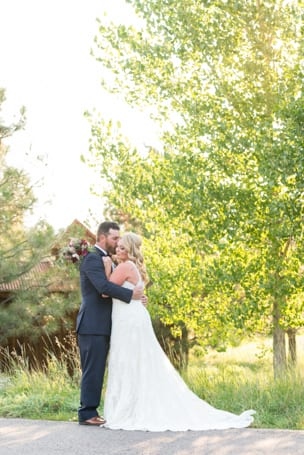 Intimate Moment at Spruce Mountain Ranch Colorado Wedding Venue