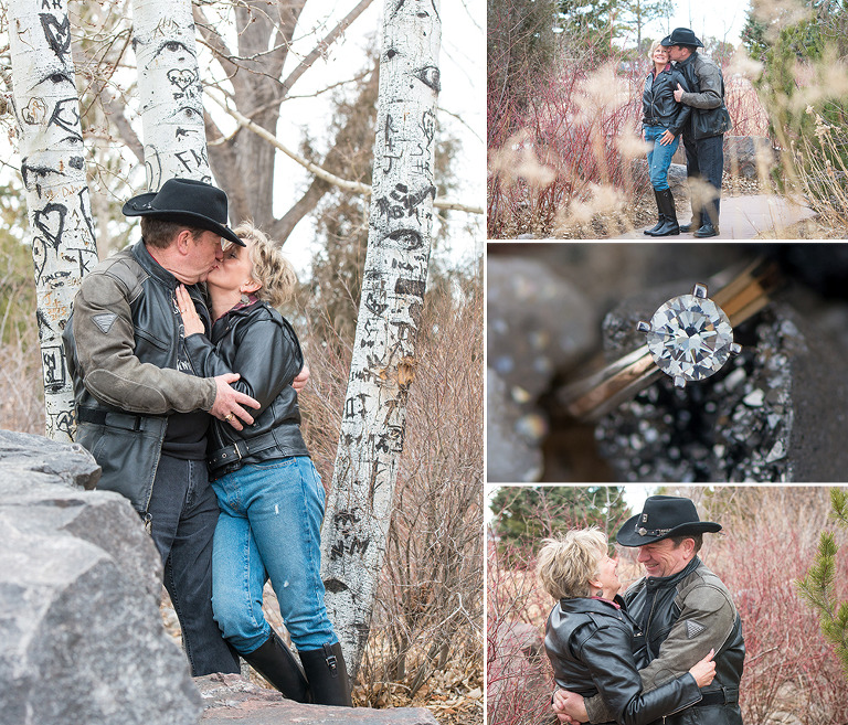 Engagement session at the Cheyenne Botanic Gardens