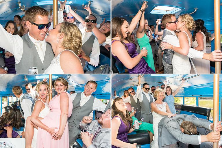 Wedding Party on Turtle Bus Colorado