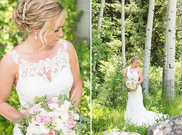 Bridal formals before ceremony in Vail, Colorado.