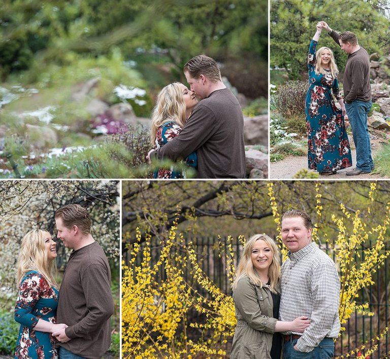 Engagement Photos at Denver Botanic Gardens