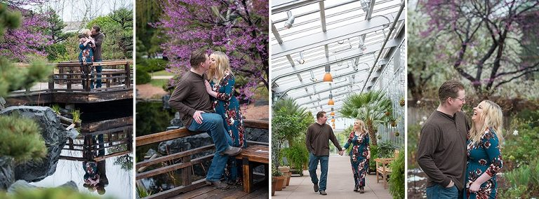 Spring Engagement Session at Denver Botanic Gardens