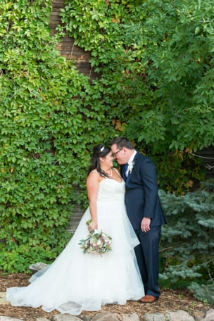 Bride and Groom First Look at Raccoon Creek